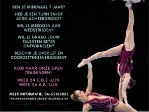 Sportacrobatiek Zwolle (SAZ) is op zoek naar jou!